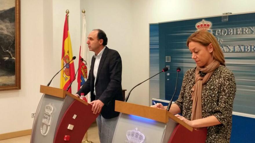 Ignacio Diego y Cristina Mazas, durante la presentación del convenio.