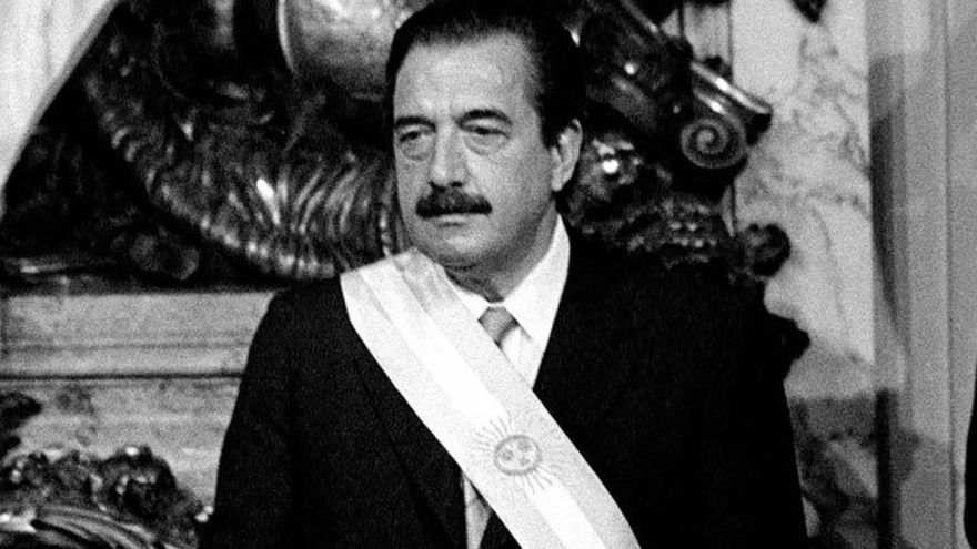 El expresidente Raúl Alfonsín