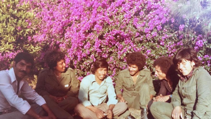 Mariam Abu Daqqa (segunda por la izquierda) durante la primera Guerra de El Líbano. | Foto cedida por Abu Daqqa.