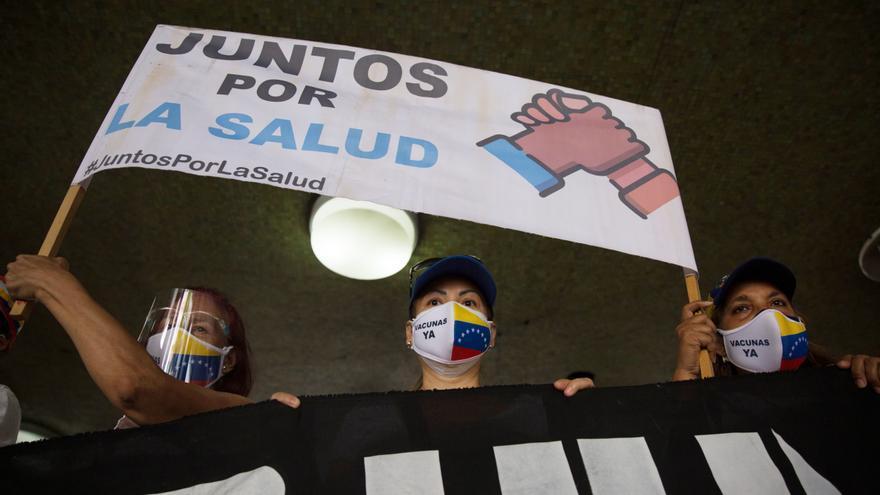 El sector de enfermería de Venezuela exige equipamiento y vacunas anticovid