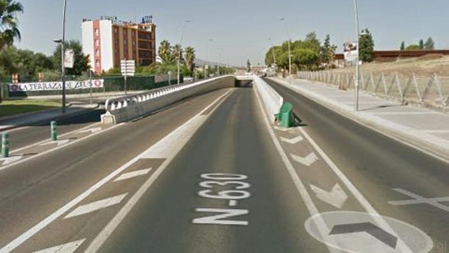 Paso subterráneo en la avenida Reina Sofía de Mérida, en el que participó la empresa Dico