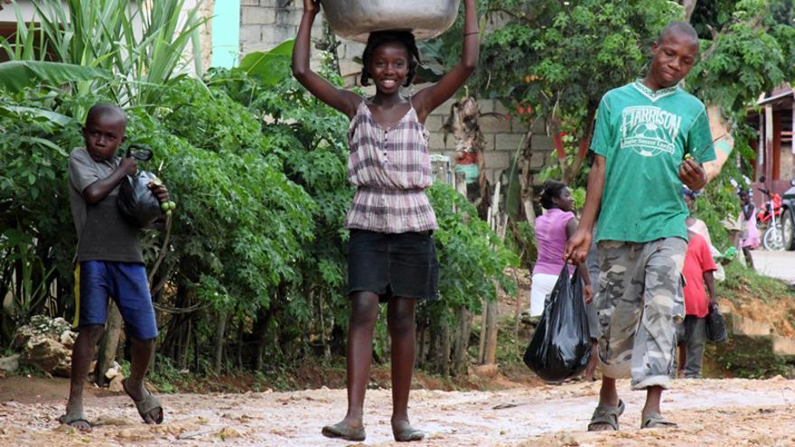 Camino al mercado a vender vegetales/ Alianza por la Solidaridad