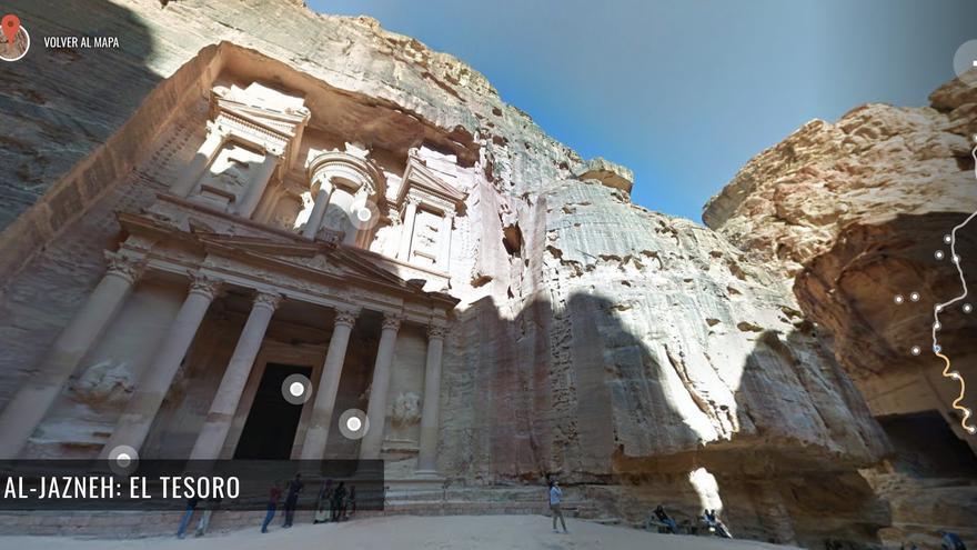En Petra puedes hacer una visita virtual de lujo.