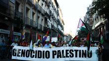 """Protesta contra el conflicto en Gaza para pedir un """"alto el fuego definitivo"""" entre Israel y Hamás"""