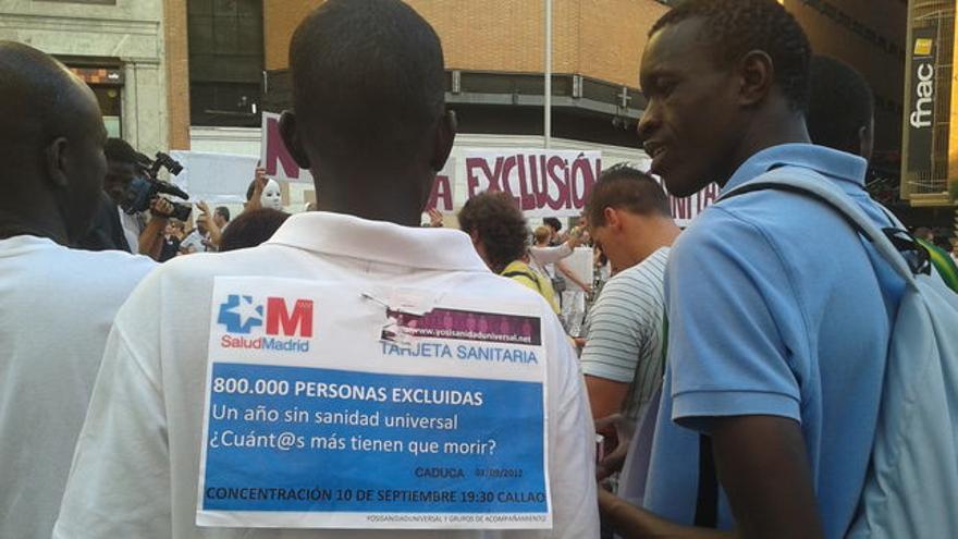 Imagen de archivo. La exclusión sanitaria ha sido motivo de protestas.   Fotografía: Gabriela Sánchez