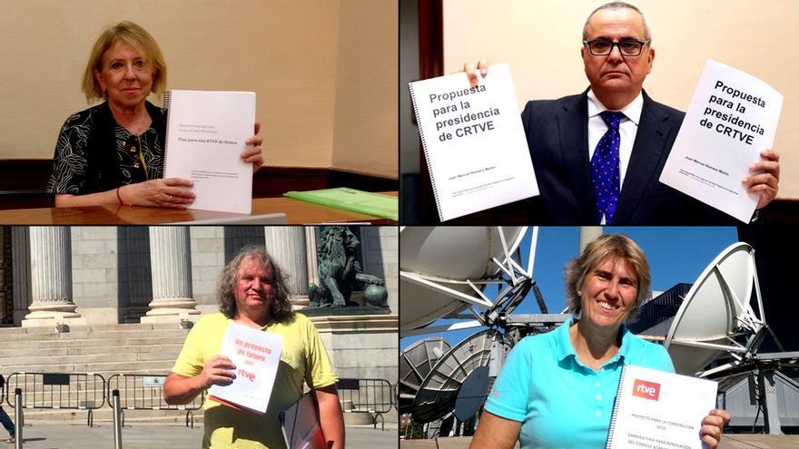 Cuatro de los candidatos a la Presidencia de RTVE