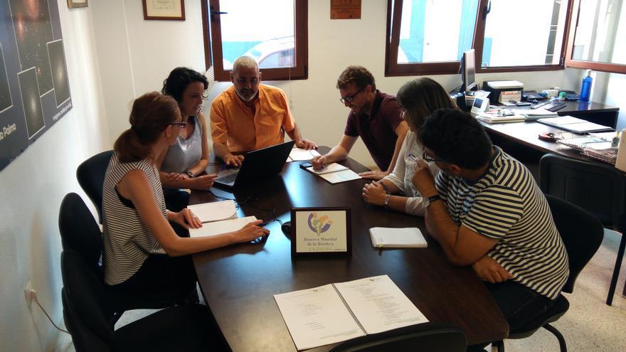 Miembros de la Fundación Canaria de la Reserva de la Biosfera La Palma.