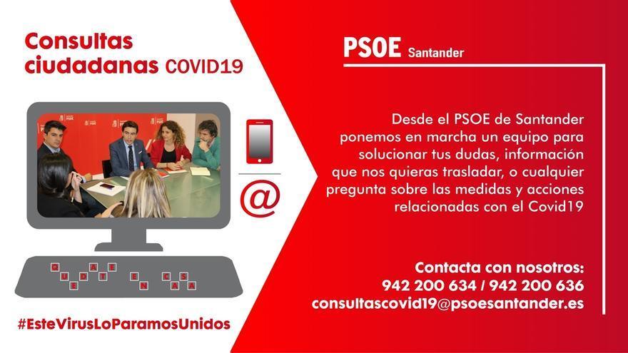El PSOE de Santander crea un gabinete de consultas sobre el COVID-19