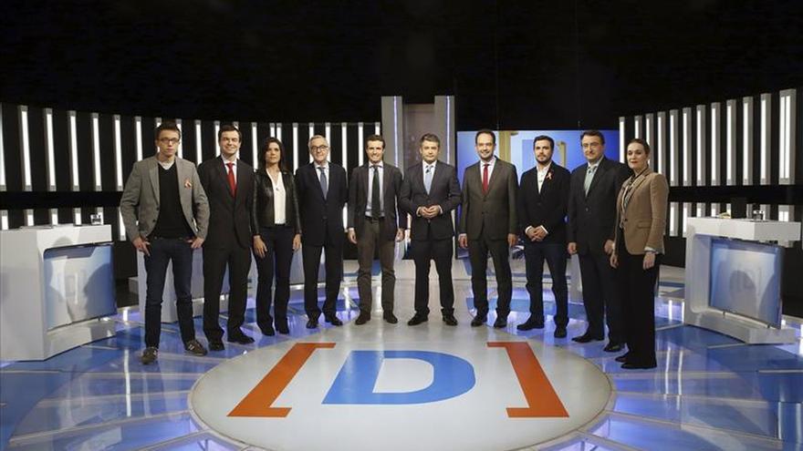 Nueve formaciones políticas debaten en TVE sus propuestas electorales 20-D