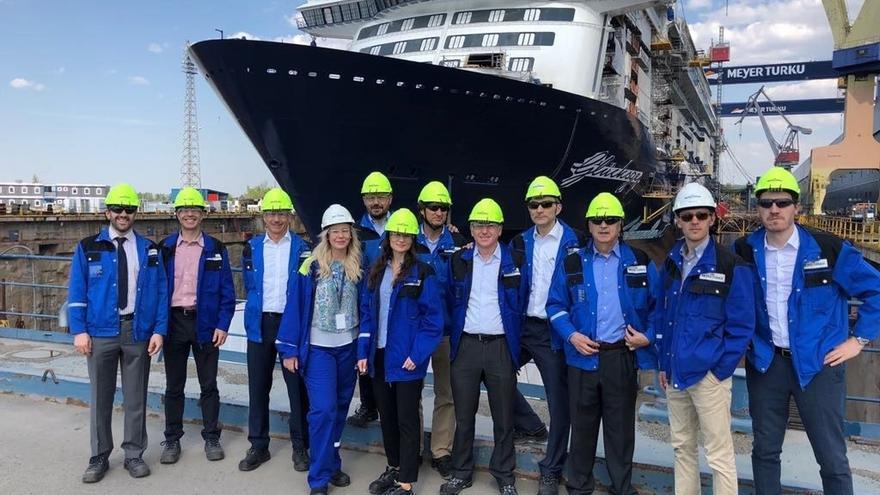 Cinco empresas vascas visitan el astillero finlandés Meyer Turku para explorar las posibilidades de negocio