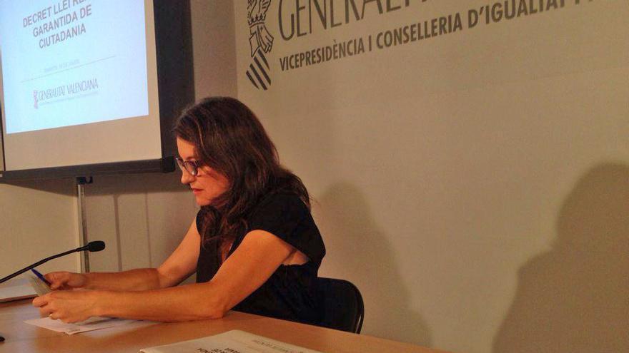 La consellera de Igualdad y Políticas Inclusivas en rueda de prensa