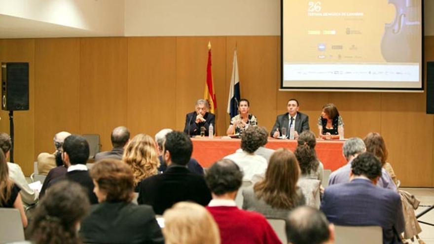 De la presentación del 26º Festival de Música de Canarias en Madrid #1