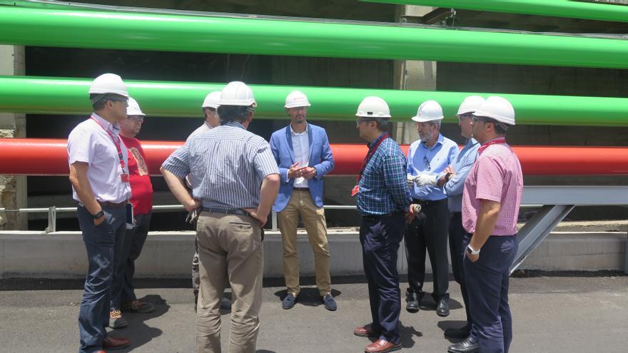 Imagen de la visita realizada al recinto industrial capitalino