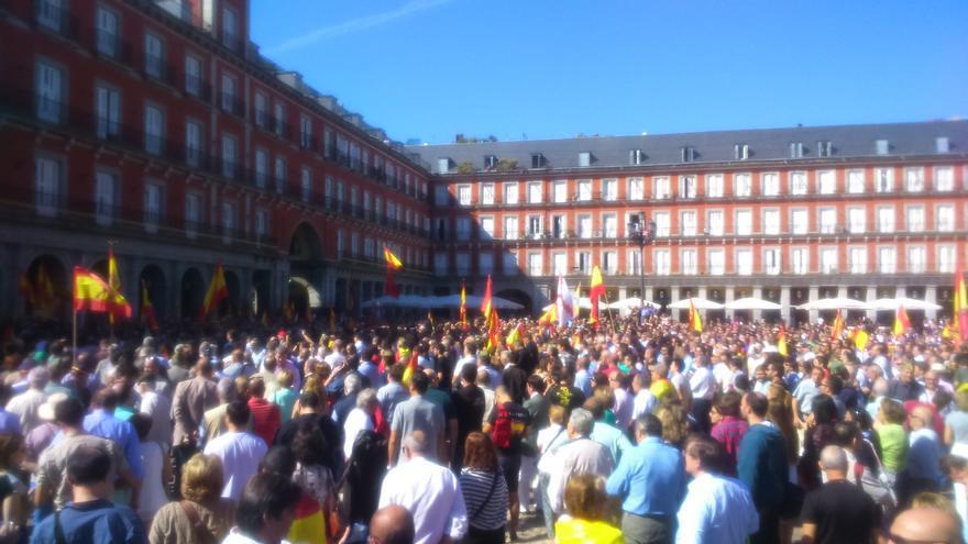 Concentración en favor de Millán Astray en Madrid
