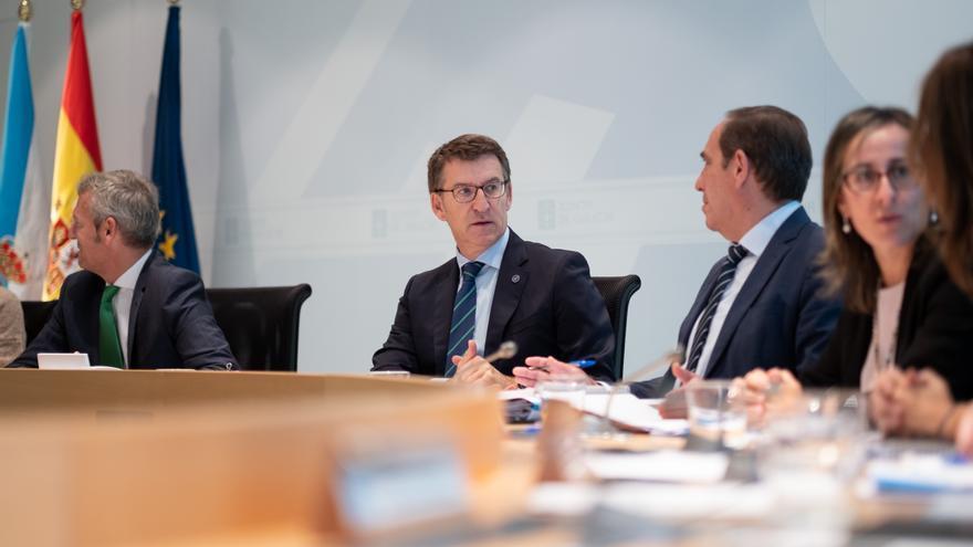 Feijóo en la reunión con su Gobierno en la que se han aprobado los presupuestos de la Xunta para 2020