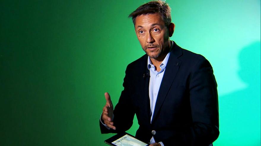 Javier Ruiz, durante su intervención en 'Hormigas blancas'