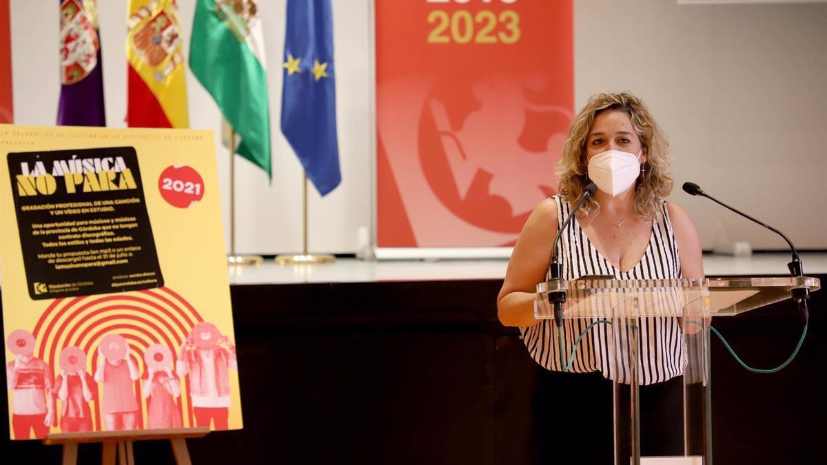La delegada de Cultura en la Diputación de Córdoba, Salud Navajas.