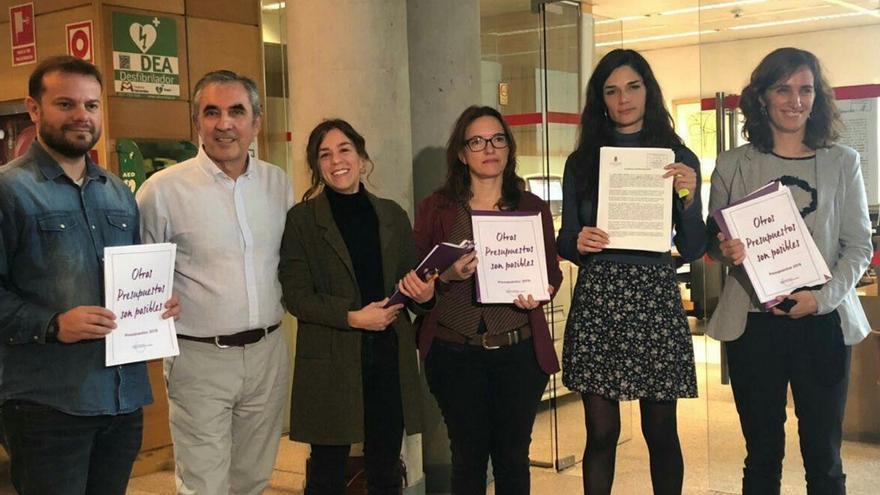 El grupo parlamentario de Podemos presenta sus presupuestos alternativos en la Comunidad de Madrid. / Podemos