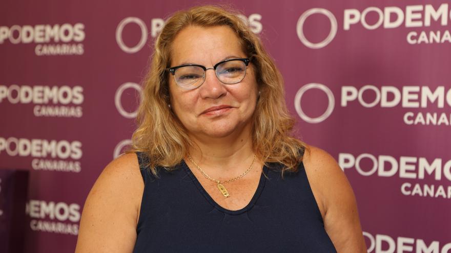 La secretaria general de Podemos en Canarias y diputada nacional Meri Pita (Alejandro Ramos)