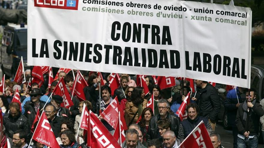 Los accidentes laborales se cobraron 607 vidas en 2016, 22 menos que en 2015