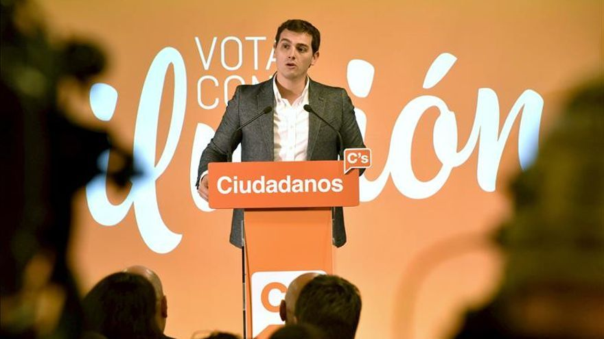 Albert Rivera, durante su intervención en un acto de El Periódico