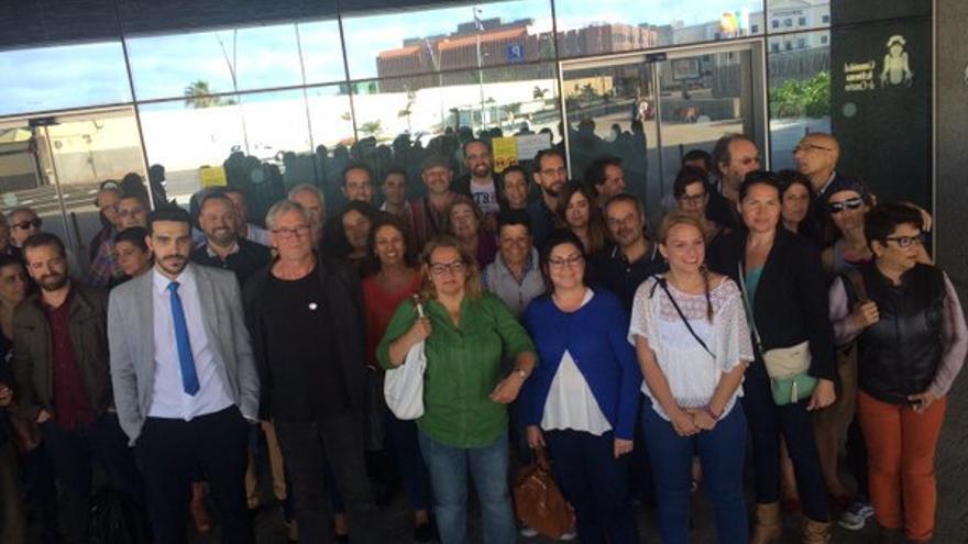 Presentación de la candidaturas de Unidos Podemos en Canarias ante la Junta Electoral (Foto: Podemos Canarias)