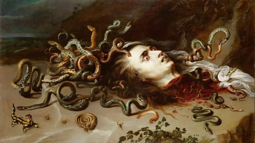 La cabeza de Medusa, Peter Paul Rubens (1617-18)