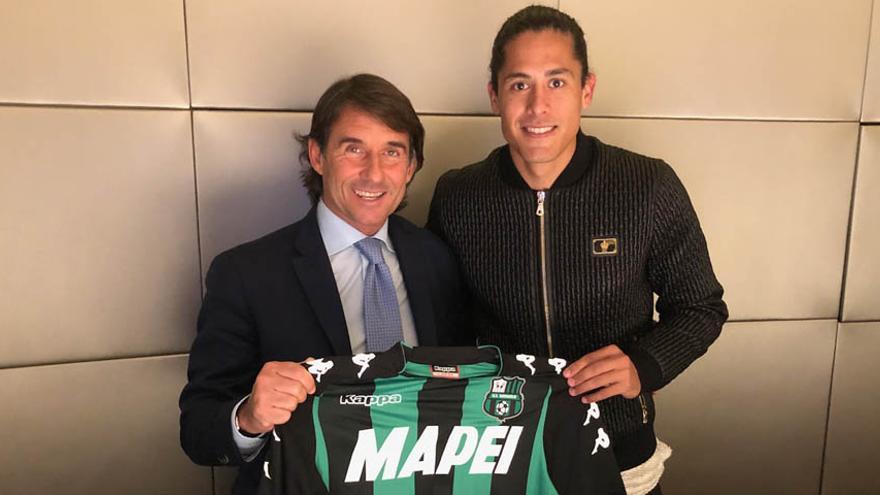 Presentación de Lemos como jugador del Sassuolo