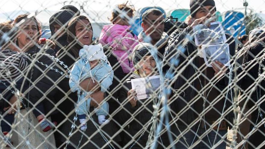 Imagen de archivo de un grupo de refugiados