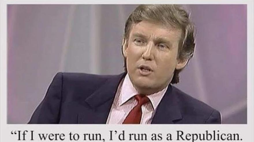 Montaje con el presunto extracto de la entrevista de Donald Trump en la revista People.
