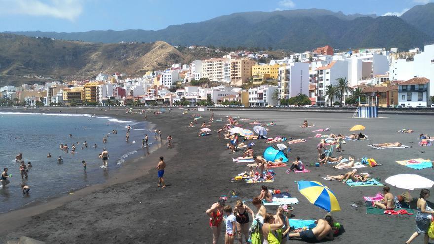 Imagen de la playa de Santa Cruz de La Palma en el pasado  mes de agosto.