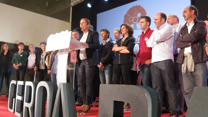 """Barkos: """"Geroa Bai es la segunda fuerza en Navarra y va a liderar el cambio"""""""