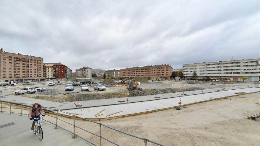 Recta final de las obras de urbanización de Milagrosa sur
