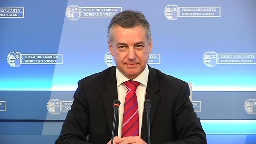 """Urkullu pide a los Gobiernos español y francés """"altura de miras"""" para que se produzca el desarme final de ETA"""