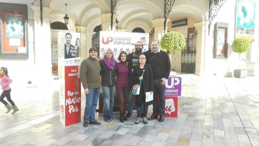 Unidad Popular-IU Verdes ha presentado el manifiesto de apoyo a su candidatura