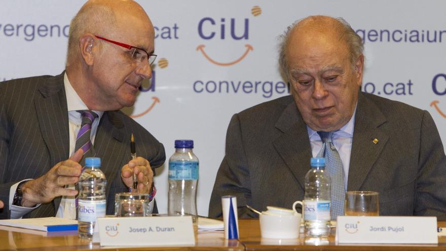 Josep Antoni Duran Lleida, junto al expresidente de la Generalitat, Jordi Pujol. Foto:Efe