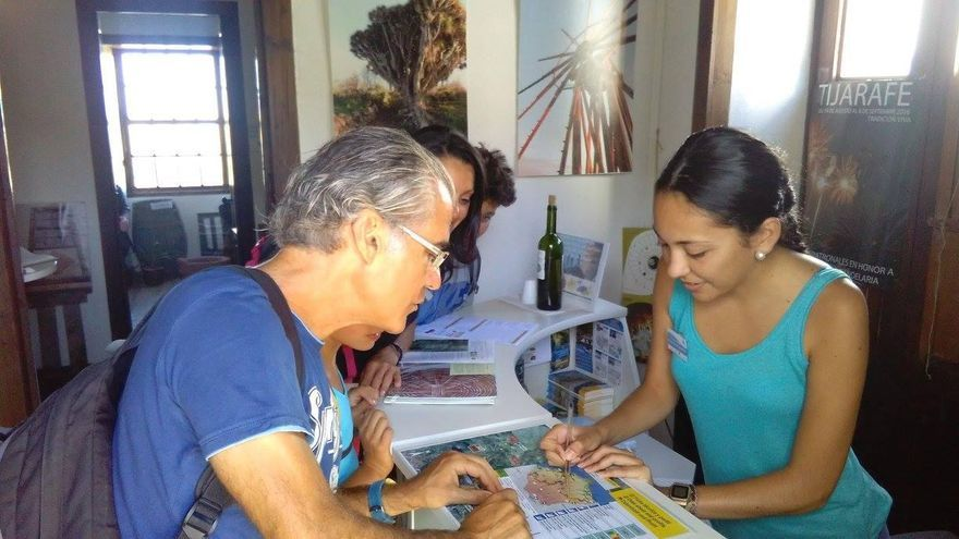 Practicas en la Oficina de Información Turística de Las Tricias (Garafía). Foto: CIT Tedote.