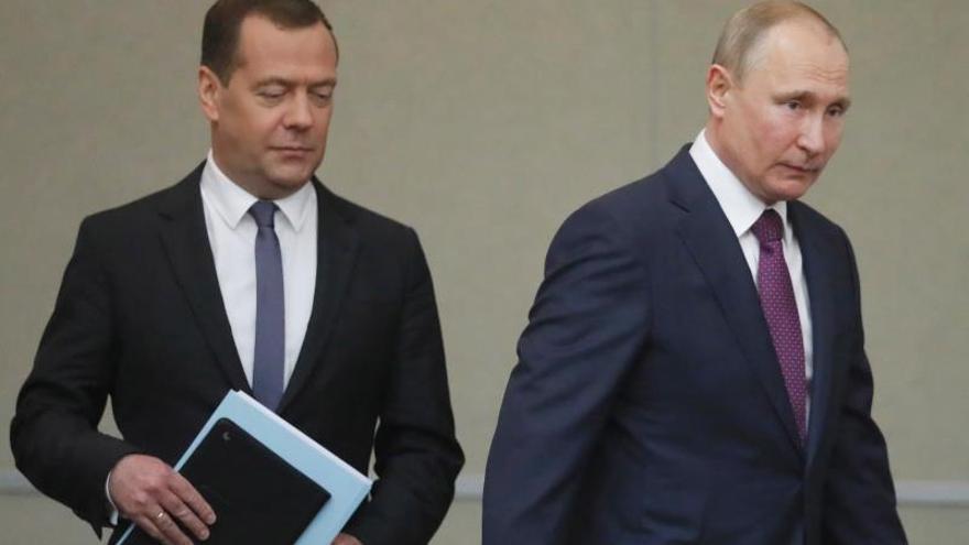 Dimite el Gobierno ruso del primer ministro Dmitri Medvédev