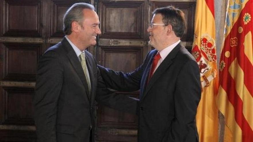 Alberto Fabra y Ximo Puig.