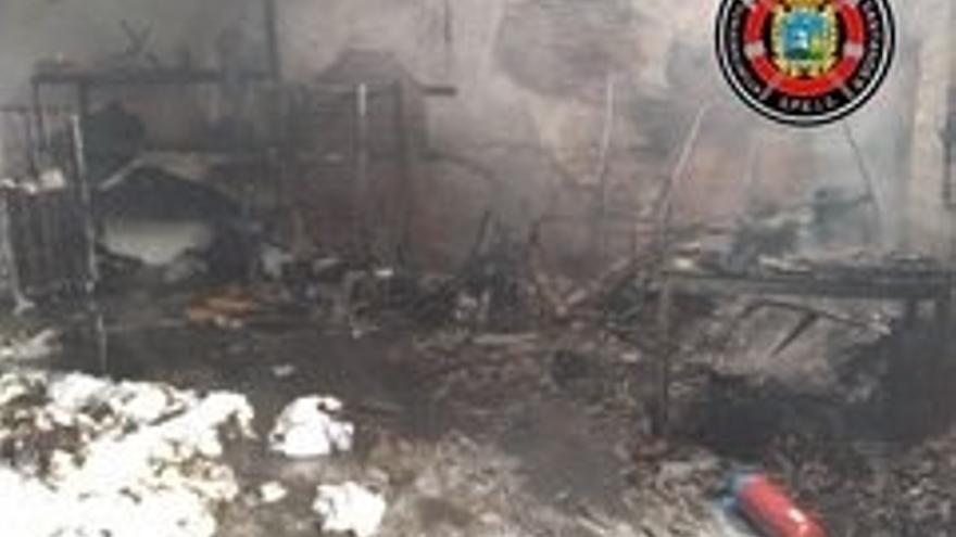 Incendio en una lavandería industrial