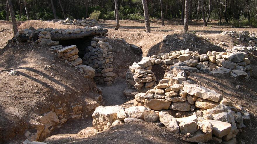 Els Barrancs, en Villalba dels Arcs, sistema de trincheras de la Batalla del Ebro. COMEBE