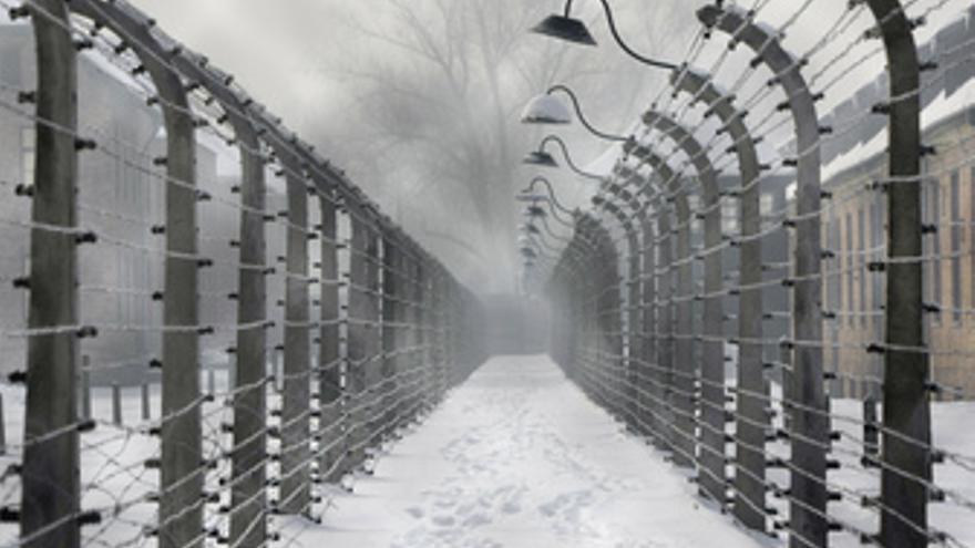 Alambradas en el campo de concentración de Auschwitz