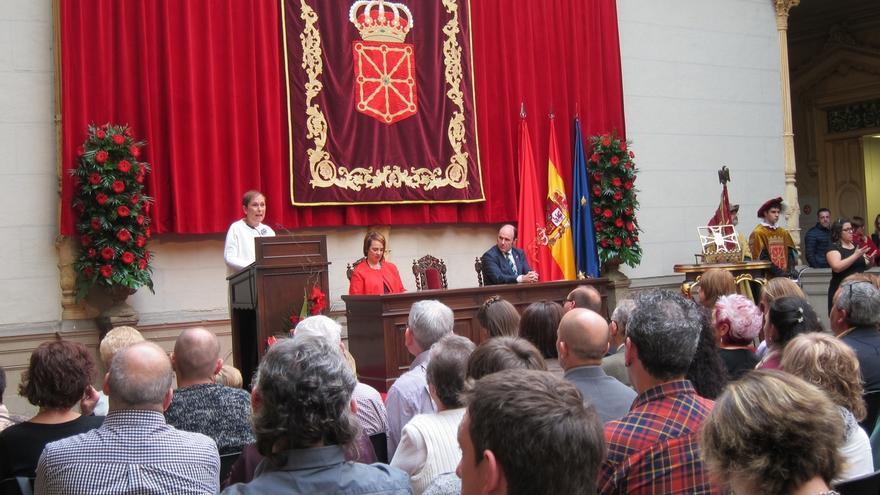 """Barkos garantiza una """"férrea defensa"""" del autogobierno y dice que el Convenio es """"pieza troncal"""" del status de Navarra"""