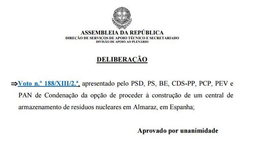 Portugal Almaraz condena ATI residuos nuclear