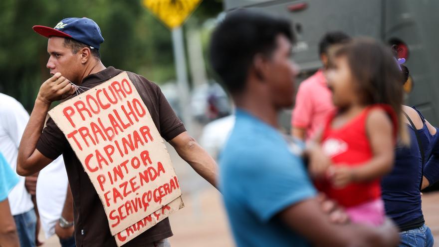 Refugiados venezolanos se manifiestan en Brasil