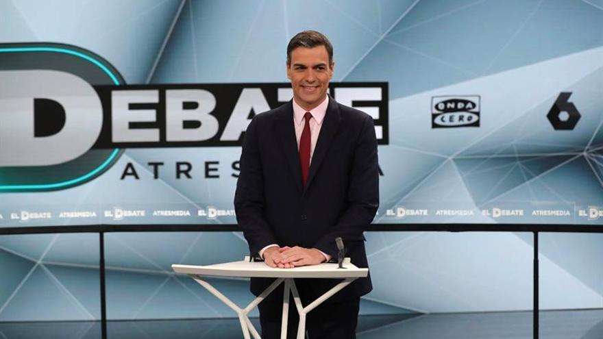 Pedro Sánchez en el debate de Atresmedia