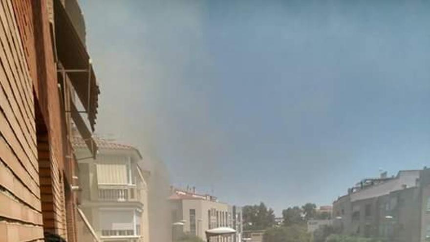 Asador pollos Badajoz incendio