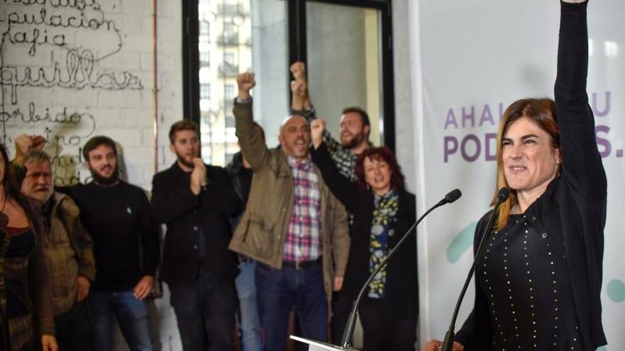 La candidata de Podemos apuesta por un Gobierno Vasco con el PSE y EH Bildu