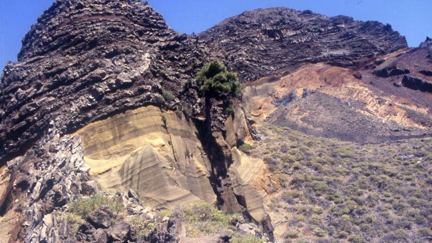 Morro de Tajodeque, Roque Palmero y Espigón Atravesado (Caldera de Taburiente. El Paso)