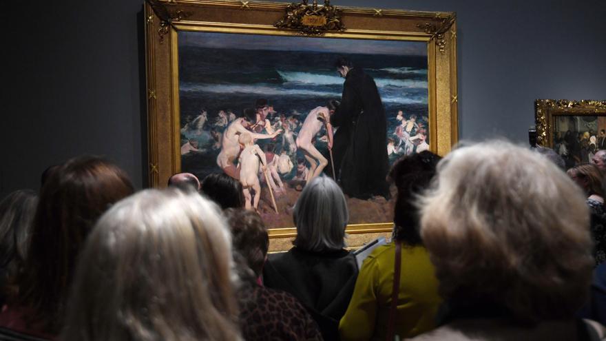 Visitantes del museo National Gallery del Londres.